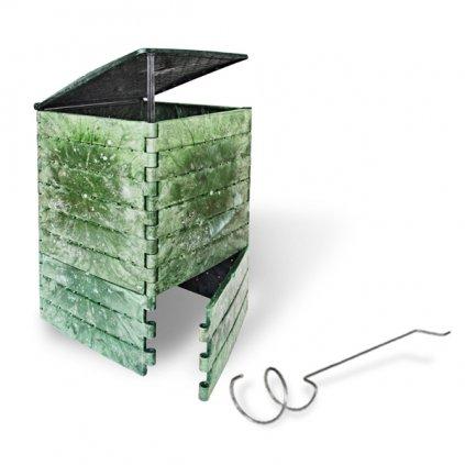 Kompostér JRK PREMIUM 215  Sprievodca kompostovaním + prekopávač ZDARMA