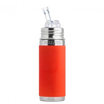Pura® TERMO fľaša so slamkou 260ml oranžová