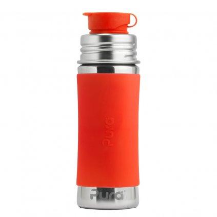 Pura® nerezová fľaša so športovým uzáverom 325ml oranžová