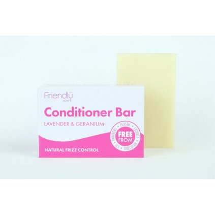 Friendly Soap, prírodný kondicionér na vlasy, levanduľa a pelargónia 2