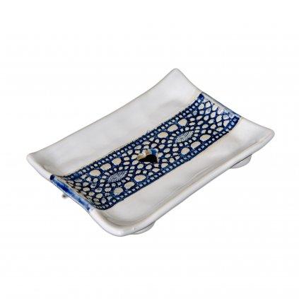 musk mydelnička modrá čipka