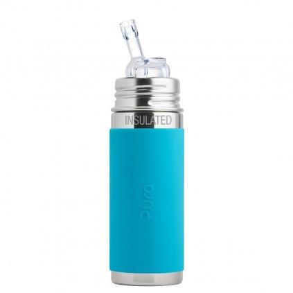 pura termo fľaša so slamkou 260 ml aqua