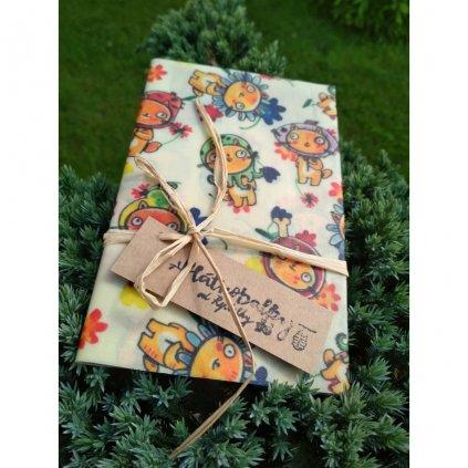 Plátnobalky, voskované obrúsky, veľkosť L, dizajn Hrabě Sváčula