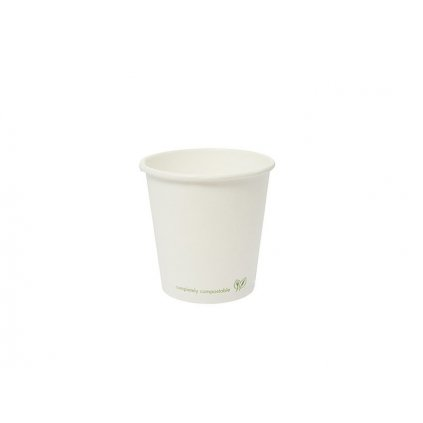 Pohár na teplé nápoje 120ml, biely, 50 ks