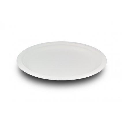 Vegware, Kompostovateľný tanier plytký, 18 cm, cukrová trstina