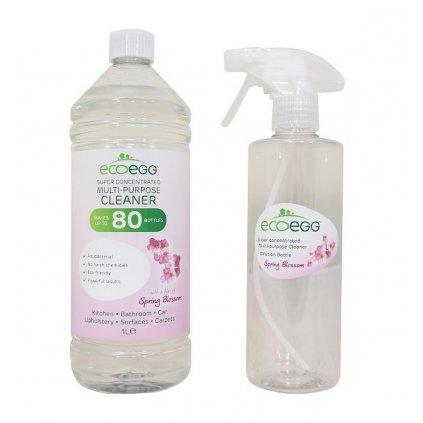 Ecoegg, Koncentrovaný ekologický antibakteriálny čistič, Jarné kvety, 1 L