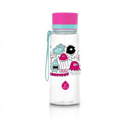 Equa, Fľaša 400 ml/ 600 ml- Pink Monster