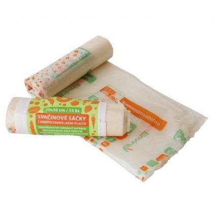 hbabio kompostovatelne svacinove sacky 15ks bio ekoplasty 41 1297