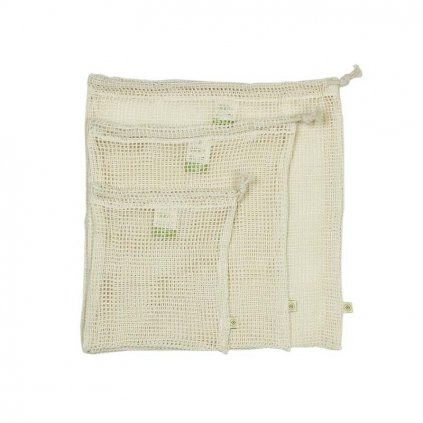 organic cotton mesh produce bag variety pack set of 3