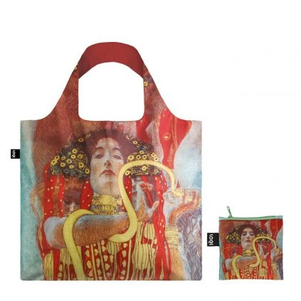 LOQI museum klimt hygieia bag zip pocket