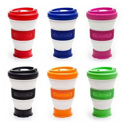 Pokito Collapsible Eco Friendly Coffee Tea Travel Cups