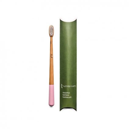 truthbrush pink medium castor oil bristles