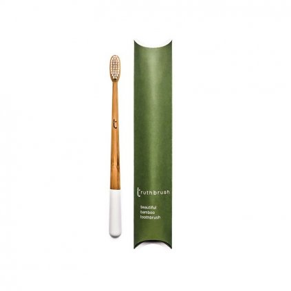 truthbrush cloud white medium castor oil bristles