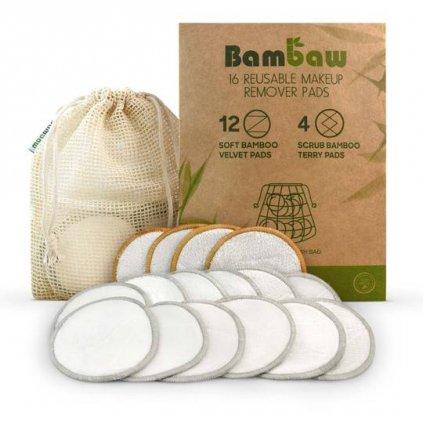 Bambaw, Prateľné odličovacie tampóny 16 ks