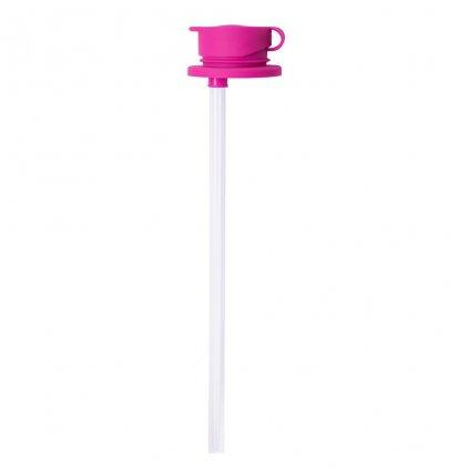 Pura, Silikónový športový uzáver so slamkou - ružová
