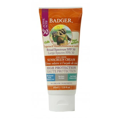 7204 03 Badger SPF30 Kids Sunscreen 0634084478013