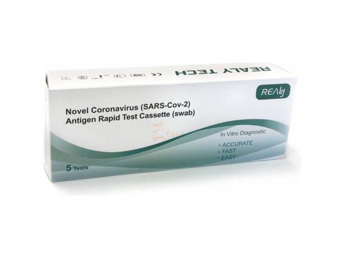 5 ks Antigénový test - výtěrový COVID-19 REALY TECH
