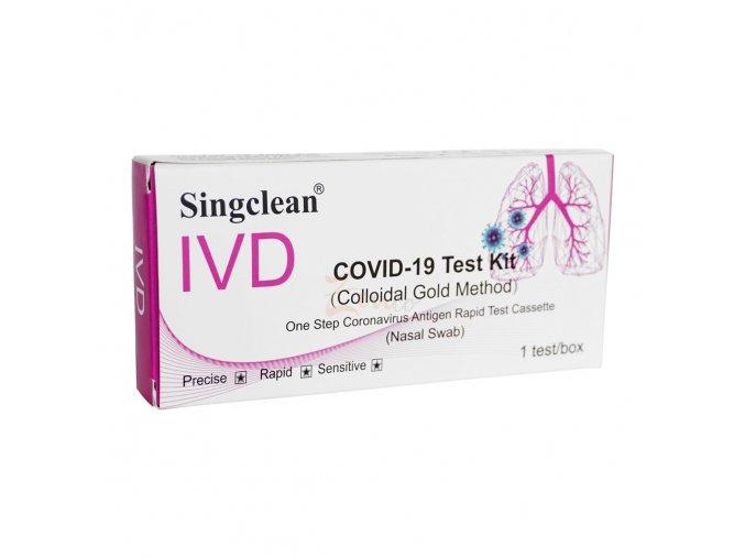 10 ks Antigénový výtěrový test na COVID-19 SINGCLEAN