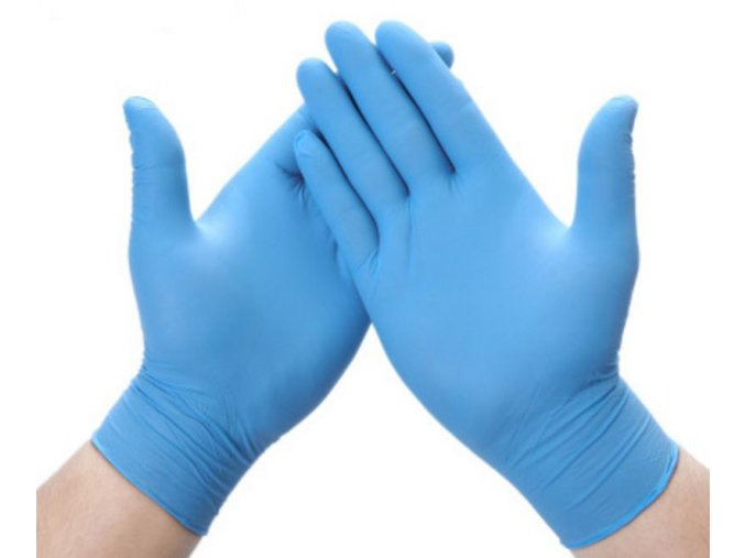 Jednorazové nitrilové vyšetrovacie rukavice modré, síla 4g - 100ks, veľ. M, L