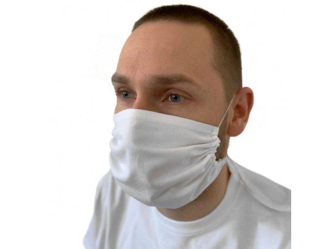 ZENCO Bavlnené rúško 2 vrstvové, za hlavu, s vreckom na filter