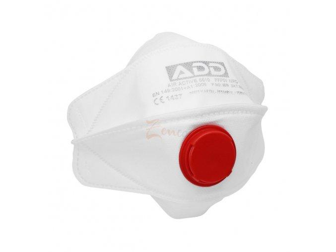 Respirátor FFP3 ADD AIR ACTIVE s VENTILOM