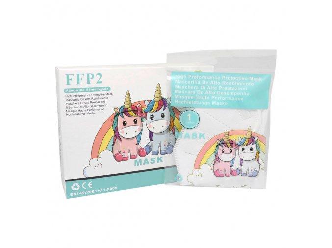 Detský respirátor FFP2 biely