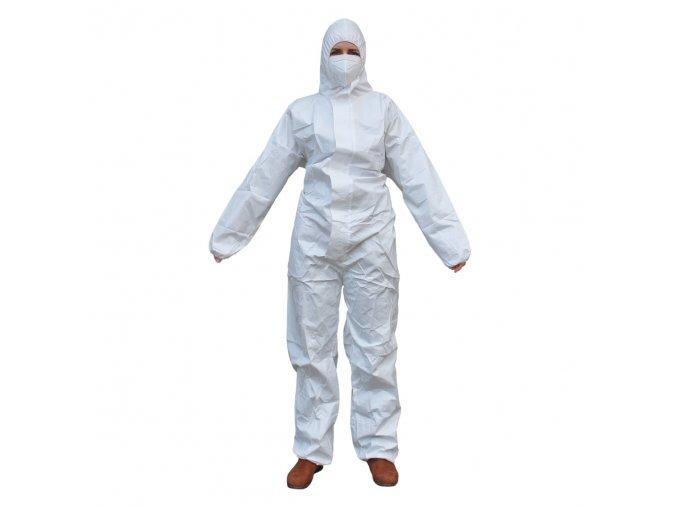 Ochranný oblek BEZ KRYCIEHO PÁSKA TYP 5B, 6B, 50gsm 100 ks