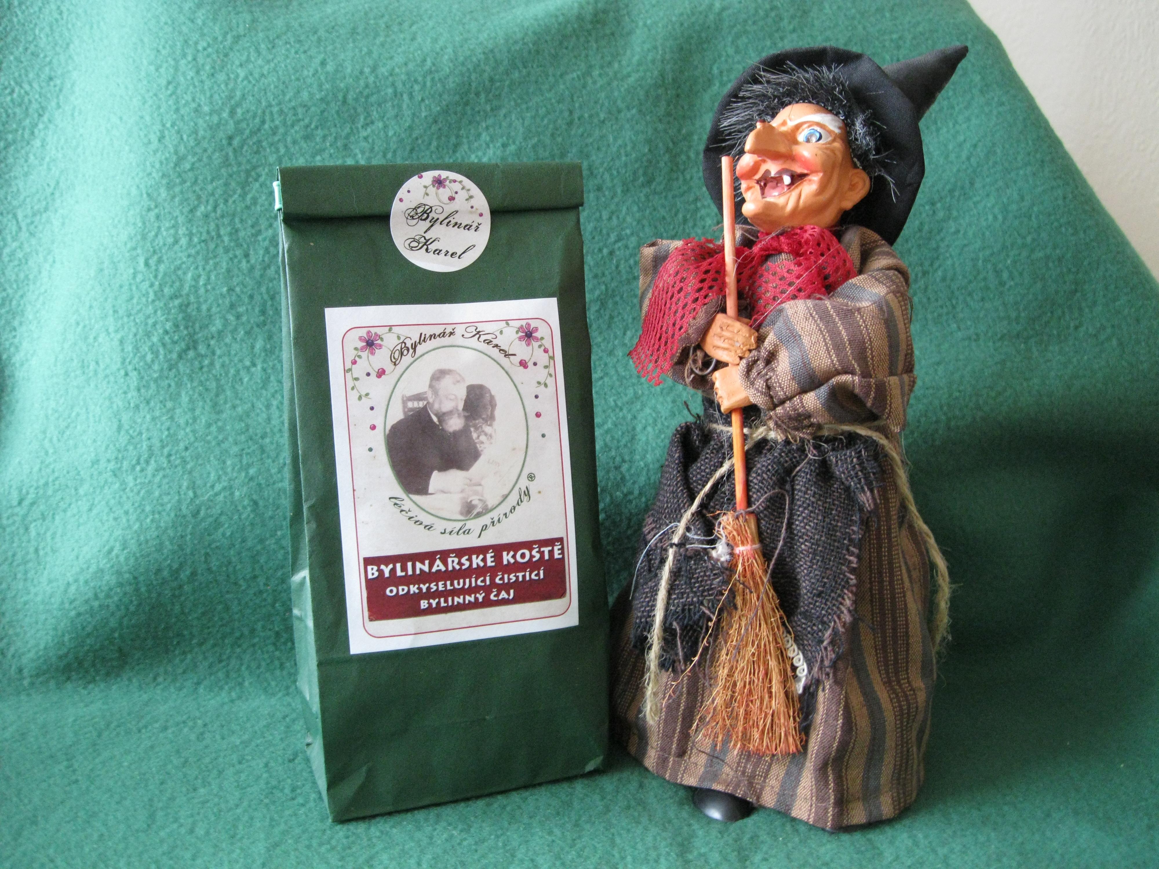 Bylinářské koště čistící odkyselující bylinný čaj