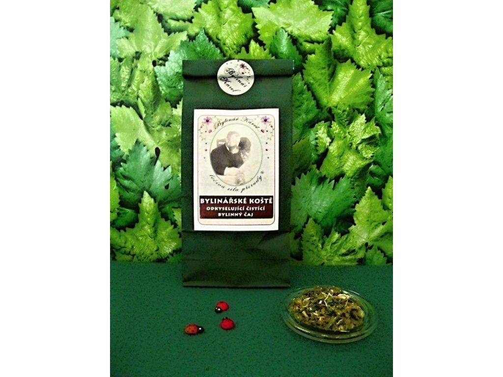 Bylinářské koště bylinný čaj na metabolismus cukrů, játra, spánek, dýchací a močový systém