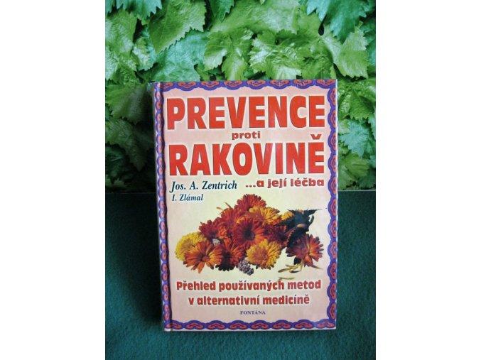 J.A.Zentrich Prevence proti rakovině kniha
