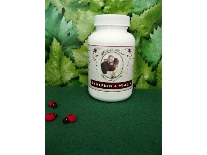 Synefrin a niacin na normální energetický metabolismus,činnost nervové soustavy, psychické činnosti, snížení míry únavy a vyčerpání
