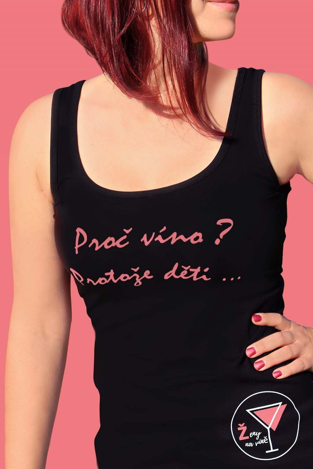 """Originální tílko """"Ženy na víně"""" velikost XXL"""