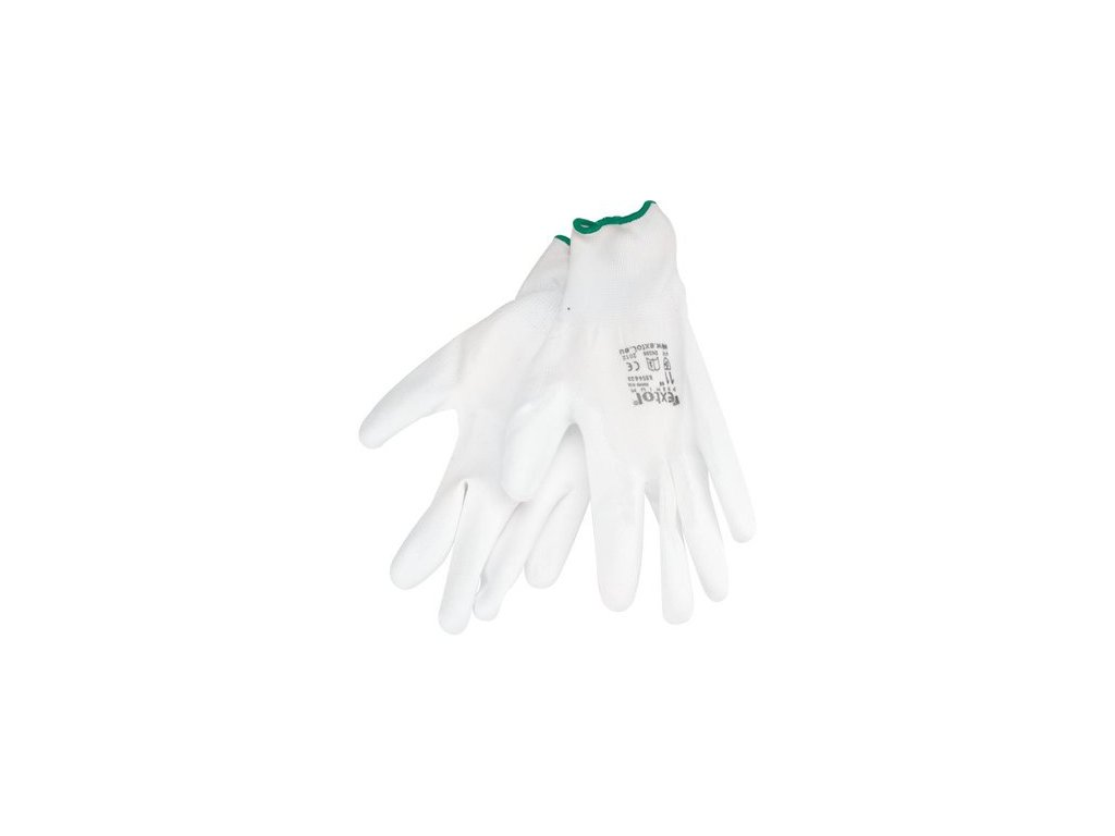 24530 1 rukavice z polyesteru polomacane v pu biele 200mm 8856630