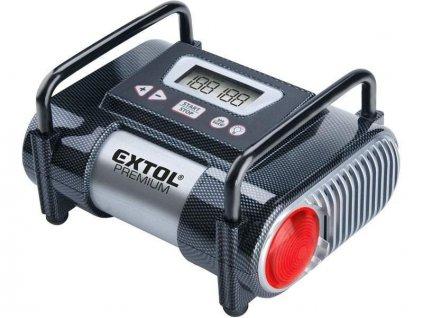 28319 7 extol premium kompresor do auta cc 140 12v 10 3bar lcd a svetlo 8864006