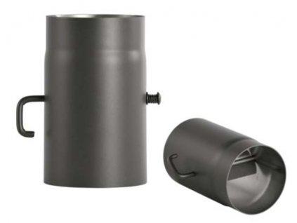 Bertrams dymovod hrubostenná rúra 150/250 hr.2mm s klapkou sivá