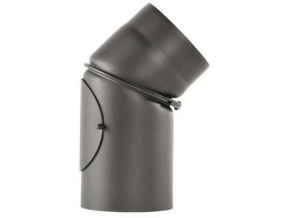 Betrams koleno hrubostenné nastavitelné 0-45° priemer 150mm - 2 mm plech s revizním otvorom sivé