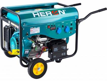 Elektrocentrála benzínová a plynová 1F, 5,0kW, elektrický štart, HERON