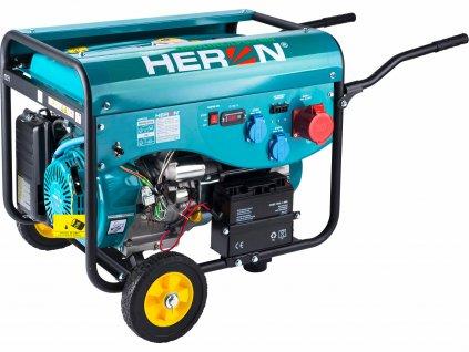 Elektrocentrála benzínová a plynová 3F, 4,2kW/4,0kW, elektrický štart, HERON
