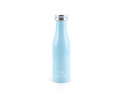 [zi:za] Nerezová lahev: termo mlékovka - modrá