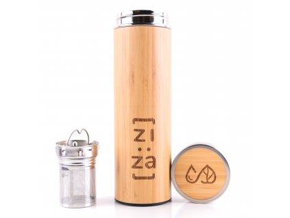 bambus lahev s infuserem ziza zerowastelife.cz