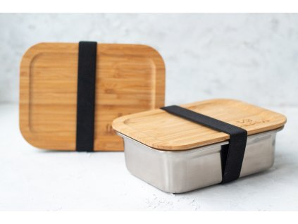 lunch box steel bamboo top zerowastelife.cz 2