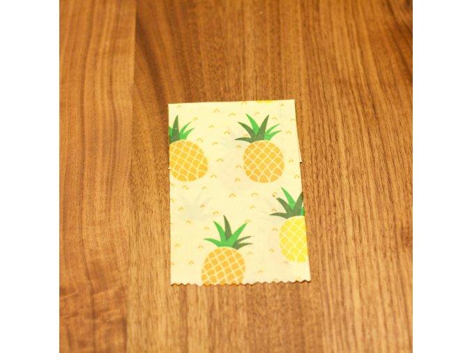 Fi Bee's wraps 30x30 cm voskované ubrousky vzor ananas