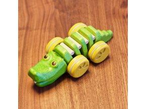 dreveny tancici krokodyl