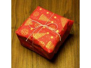 Balící látky - vánoční stromečky