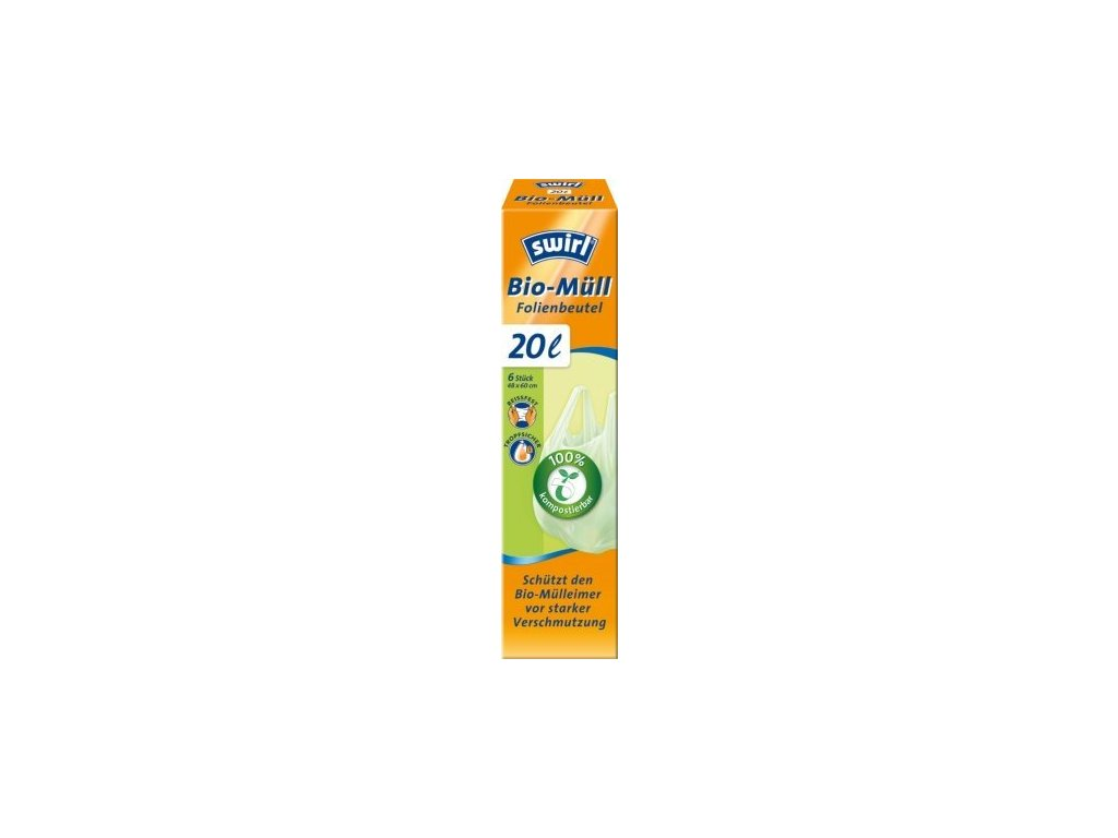 BIO kompostovatelné pytle s uchy (6ks) - 20 l