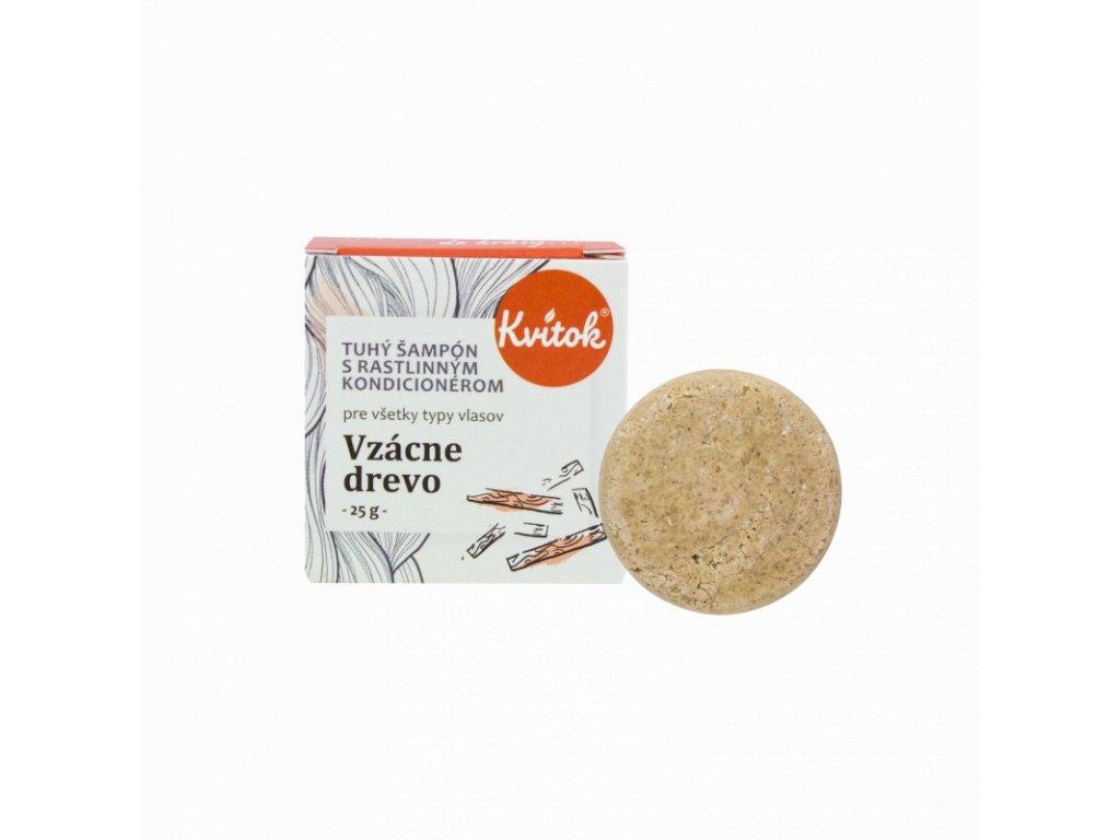 Kvitok Tuhý šampon s kondicionérem pro tmavé vlasy | Vzácné dřevo (25 g)