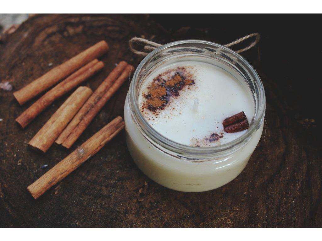 Sojová svíčka ve skle 150 ml | Skořice