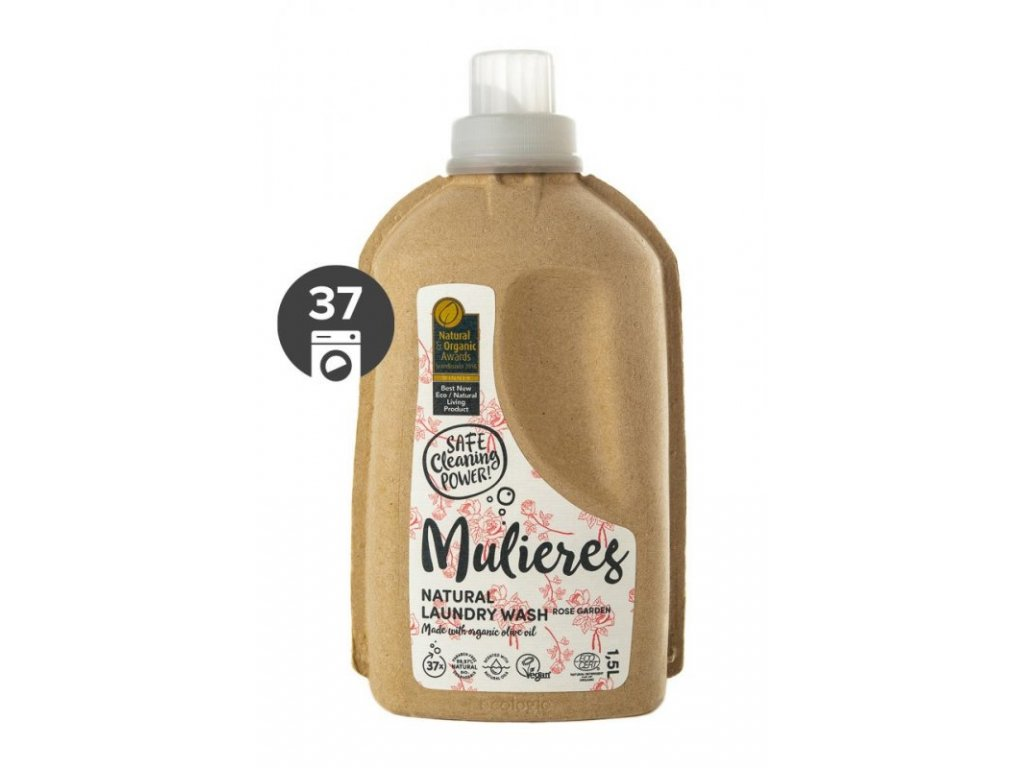 Mulieres Koncentrovaný prací gel BIO (1,5 l) | růžová zahrada