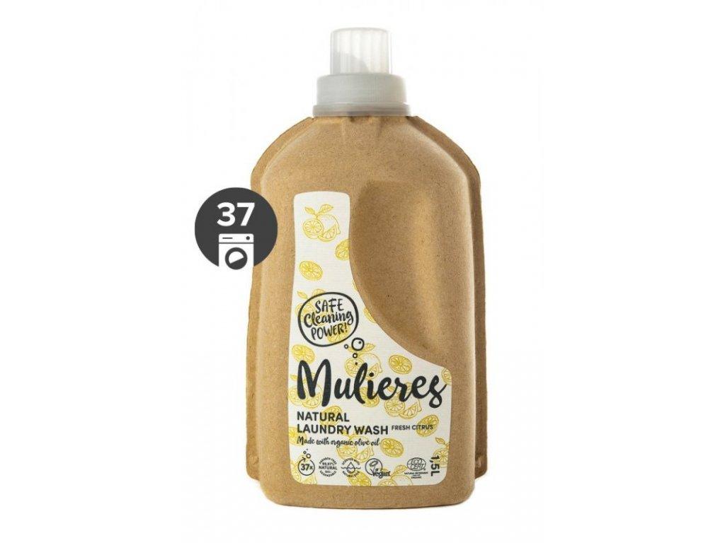 Mulieres Koncentrovaný prací gel BIO (1,5 l) | svěží citrus