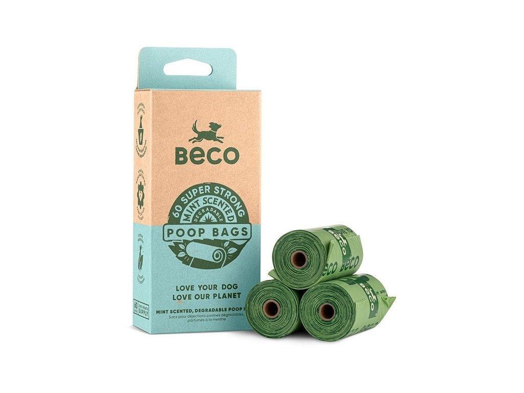 Beco Sáčky na exkrementy s peprmintovou vůní, ekologické, 60 ks
